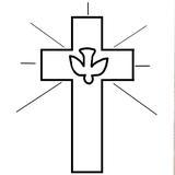 motif croix kit punch needle religieux première communion