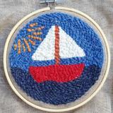 kit punch needle bateau enfant débutant