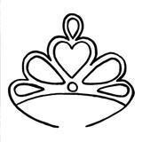 Motif punch needle couronne princesse