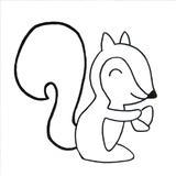 loisir créatif écureuil