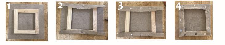 comment installer la toile sur le châssis en bois