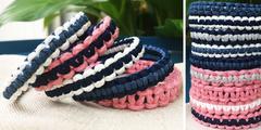 variantes possibles bracelets en macramé débutant enfants C'Reparti