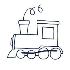 dessin coloriage locomotive facile