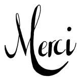 kit punch needle message MERCI