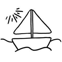 Motif Bateau kit complet Punch Needle déco marine aventurier idée cadeau loisir créatif garçon fille