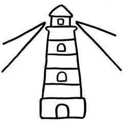 Motif phare mer kit punch needle facile enfant loisir créatif garçon fille écologique zéro déchet