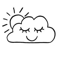 punch needle nuage endormi décoration bébé chambre enfant