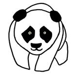 motif panda punch needle
