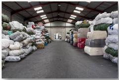 stockage fibres textiles recyclées